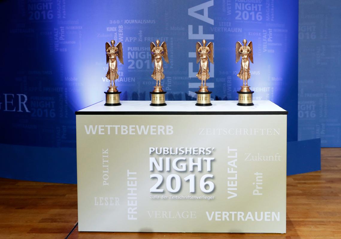 VDZ Publishers' Night 2016 – Goldene Victoria